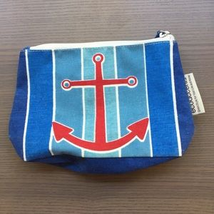 EcoAccents ⚓️ Small Nautical Makeup Cosmetics Bag
